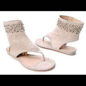 RACHEL Rachel Roy Shoes - NEW Rachel Roy Studs Suede Sandals Flats Size 10