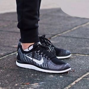 Nike Free 4.0 Flyknit Blanco Y Negro Pantalones A Cuadros De La Mujer 5jaCz18MT