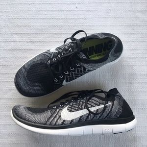 2d2d8db7dfec5 sale nike shoes womens nike free 4.0 flyknit oreo running shoes 304c6 47bb0