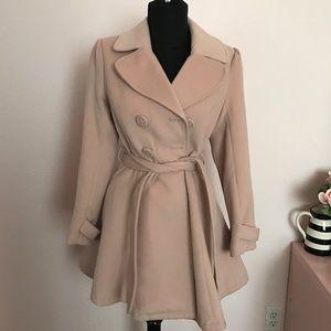Baby Pink Hourglass Coat
