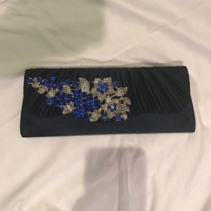 Handbags - Sapphire Clutch used only once!