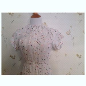 ⬇️ Adorable 1980's Vintage Polka Dot Dress, Summer