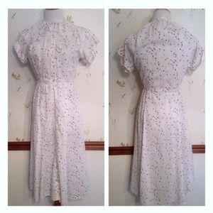 Adorable 1980's Vintage Polka Dot Dress, Summer