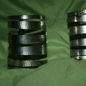 Jewelry - Silver tone wrist cuffs, 2 in set
