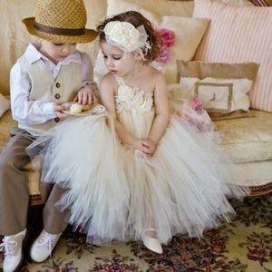 Vintage Flower Girl Tutu Dress