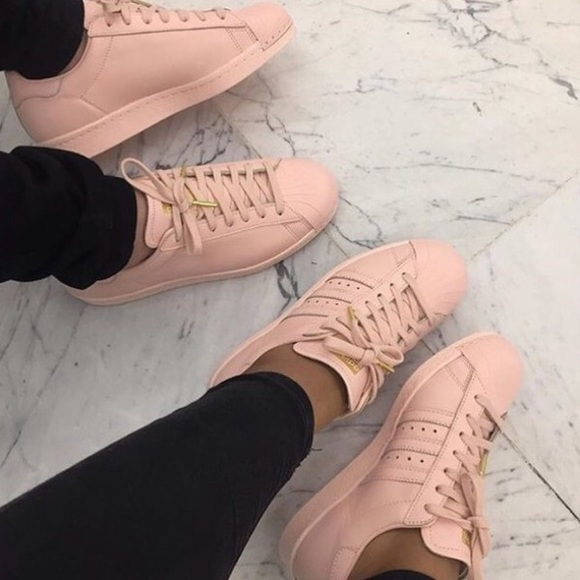 2c577c9fdb11 Adidas Shoes - Baby pink adidas superstars