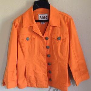 Ami Jackets & Blazers - AMI Orange Jacket