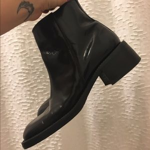 UNIF Shoes - Vintage 90's Grunge Black Leather Boots