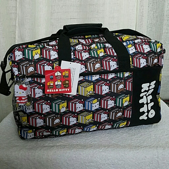 94d2c70b75 NWT Authentic Hello Kitty Carry on Duffle Bag