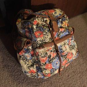 Kimchi Blue Handbags - Floral hippie flower child backpack