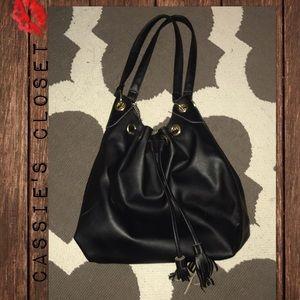Black hobo with tassel bag