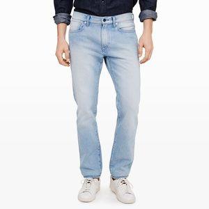 Club Monaco Slim Fit Bleach Wash Jeans