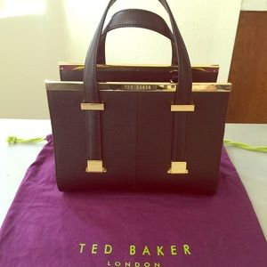 Ted Baker small crosshatch leather tote