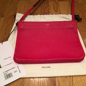 Celine Handbags - CELINE TRIO LARGE FUSHIA