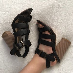 Anne Marie Shoes - Strappy chunky heels