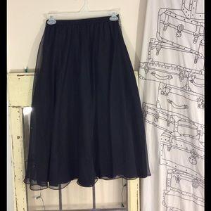 no name tag Dresses & Skirts - Vintage chiffon skirt with lining an elastic waist