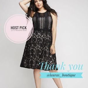 Lane Bryant Dresses & Skirts - PLUS 🎉HP🎉 Beautiful mixed lace midi dress