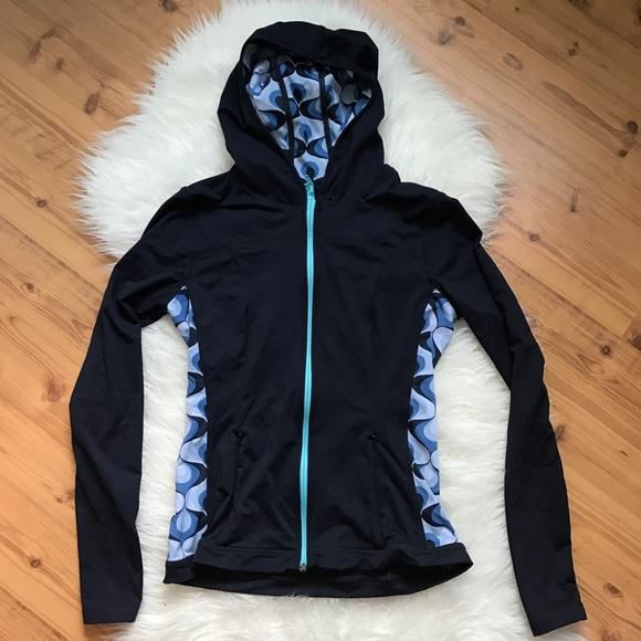 Boden Tops Yoga Activewear Jacket Full Zip Hoodie 8 Poshmark