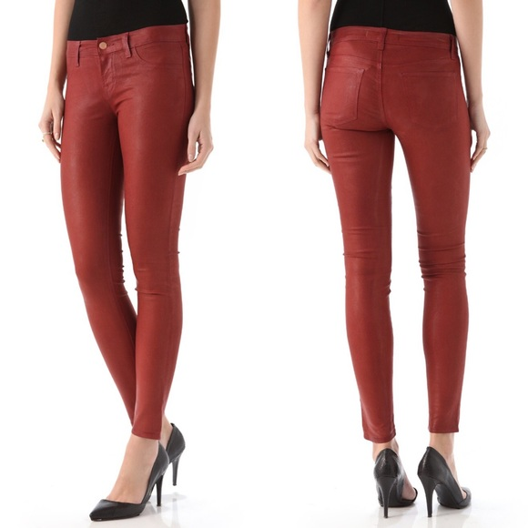 64% off J Brand Denim - J BRAND Red Coated Skinny Jeans from ...