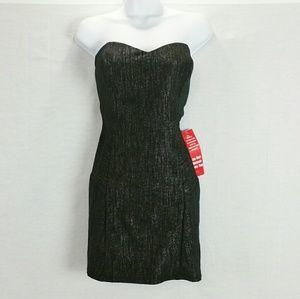 BCX Dresses & Skirts - NWOT BCX Black Silver Streaks Party Dress Size XL