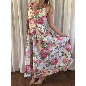 Vintage Carol Anderson Floral Dress