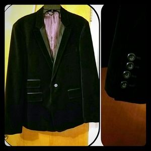 Black Rivet Other - Men's Black Rivet Velvet Jacket