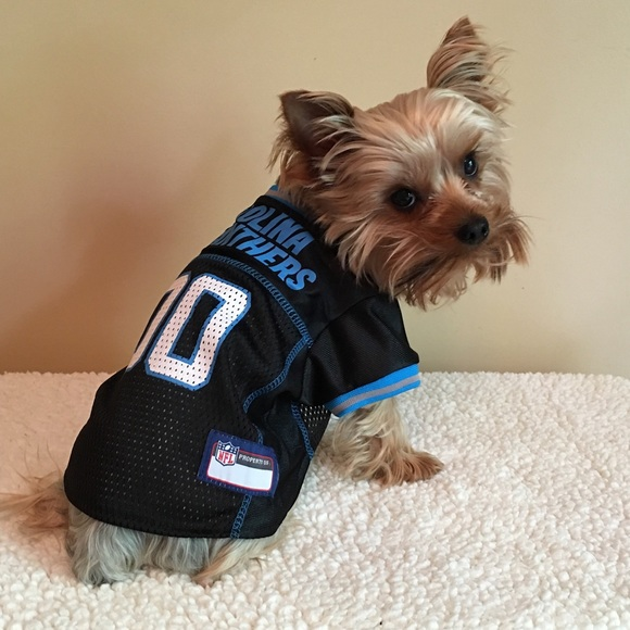Carolina Panthers NFL Dog Pet Jersey Black 230234302