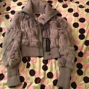 Bebe Rabbit 🐰 Fur Jacket Sz S