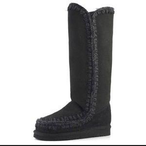 Mou Shoes - Mou Eskimo Boot, Black, Size 39, like new