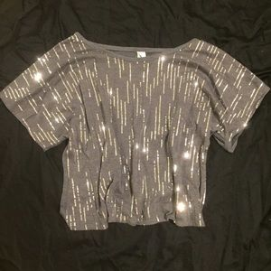 Tops - Sequin crop top FINAL SALE