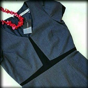 🚨NEW ANDREW MARC 10 Gray Sheath Work Dress