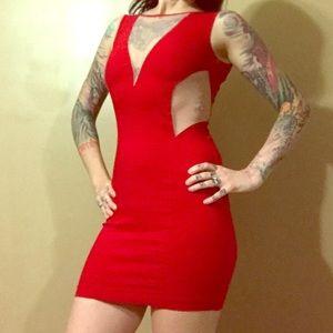 Alythea Dresses & Skirts - Red cutout dress