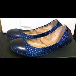 Saks Fifth Avenue Black Label Shoes - Saks Fifth Ave Black Label Polka Dot Ballet Flats