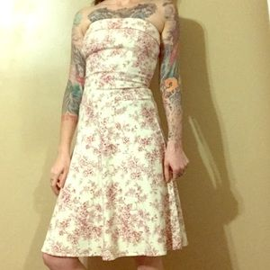 Teeze Me Dresses & Skirts - 4 for $20 Toile print strapless dress