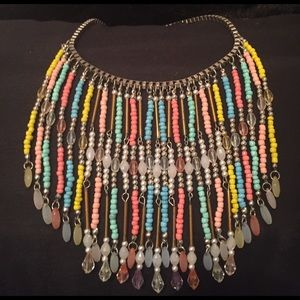 Jewelry - Stunning! Multi Colored Statement Necklace