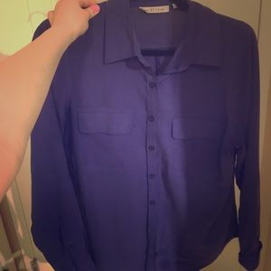 Nexx Tops - Royal blue silk button up