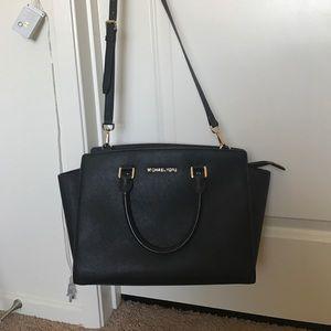 Michael Kors Handbags - michael kors black large selma bag