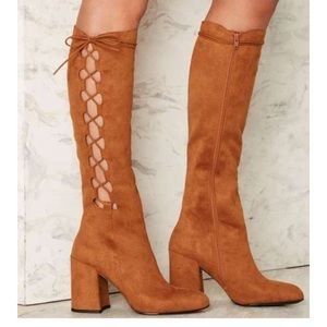 Brand New Nasty Gal Side Story Boots