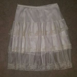 ABS Lace tiered skirt
