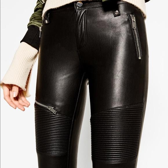 2fb4ff26c2 Zara Pants | Woman Premium 2017 Biker Vegan Leather | Poshmark