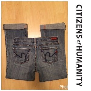 Citizens of Humanity Denim - *CITIZENS OF HUMANITY* Low Waist Crop Jean Size 26