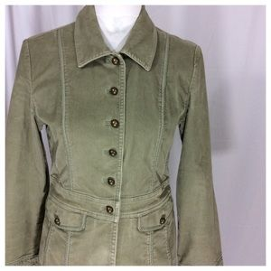 J. Jill Corduroy Military Jacket
