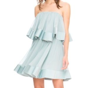 Keepsake Not To Be Mini Strapless Mint Dress