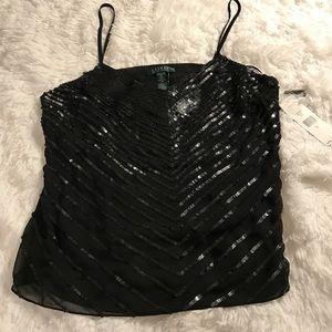 Lauren Ralph Lauren Tops - Lauren Ralph Lauren Black Sequin Top