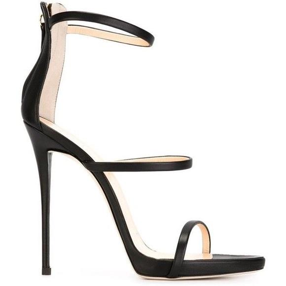 Black Triple Strap Heels | Poshmark