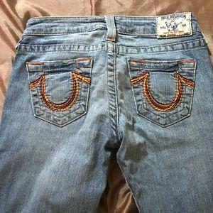 True Religion faded denim bootcut jeans size 26