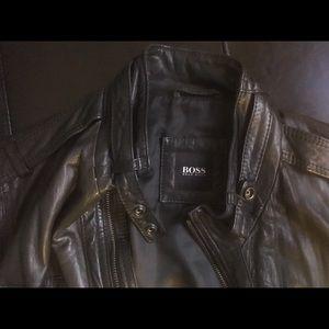 Hugo Boss Other - HUGO BOSS Moto Leather Jacket - Black - Large