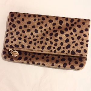 Clare Vivier Handbags - Faux Fur Leopard Clutch