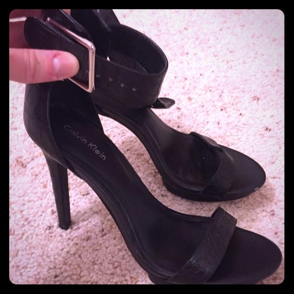 64b05e5c775 Calvin Klein Shoes - Calvin Klein Vivian ankle strap heel 7