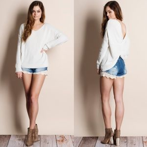 Twist Back Reversible Sweater